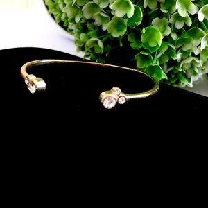 BANANA REPUBLIC gold & crystal open bangle NWT $48
